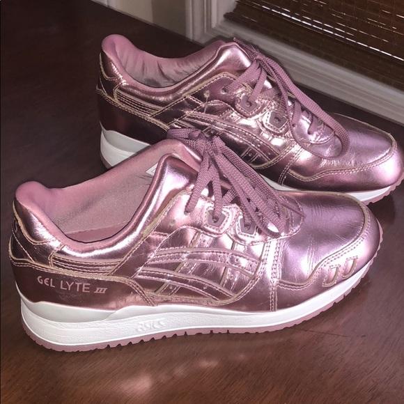 New Asics Metallic Pink Rose Gold